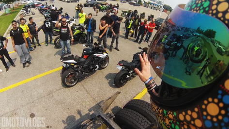 DMotovlogs POV adressing everyone at the July Motoronto 2015
